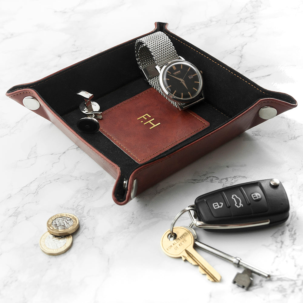 Luxury Brown Personalised Valet Tray