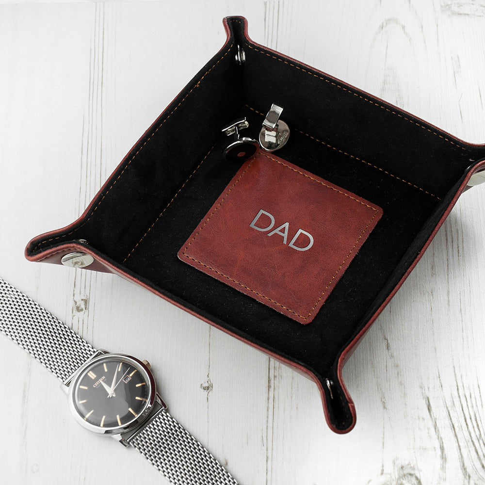 Luxury Brown Personalised Valet Tray - treat-republic