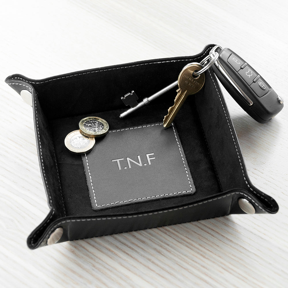 Luxury Black Personalised Valet Tray