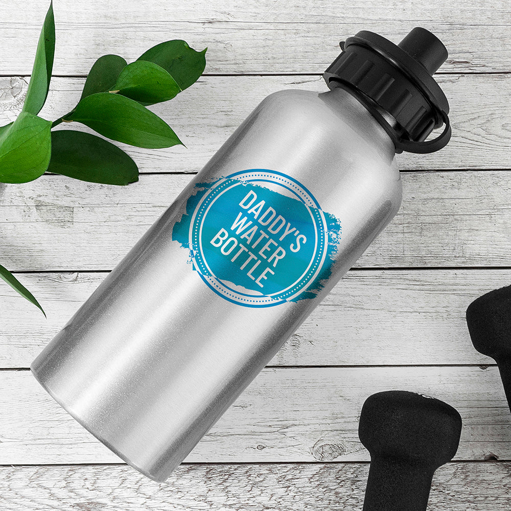 Personalised Silver Water Bottle - treat-republic