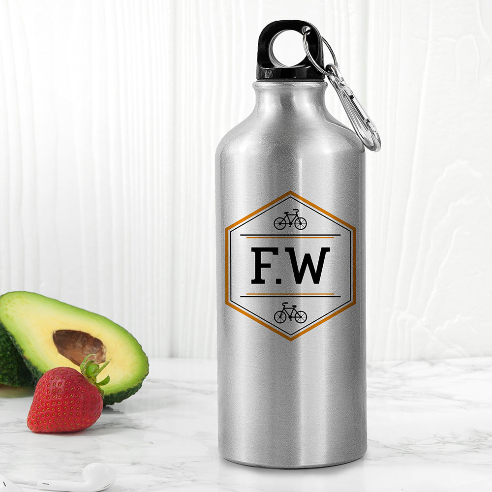 Personalised Iconic Pursuits Silver Water Bottle