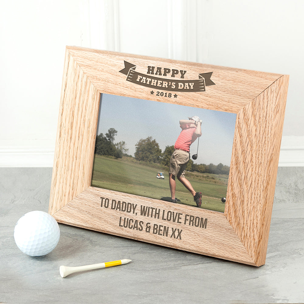 Wordsworth Collection Personalised Dad's Frame of Honour Oak Frame - treat-republic