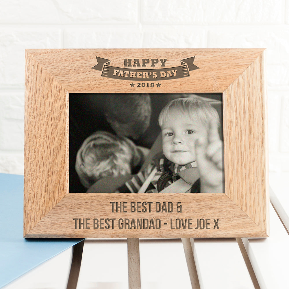 Wordsworth Collection Personalised Dad's Frame of Honour Oak Frame