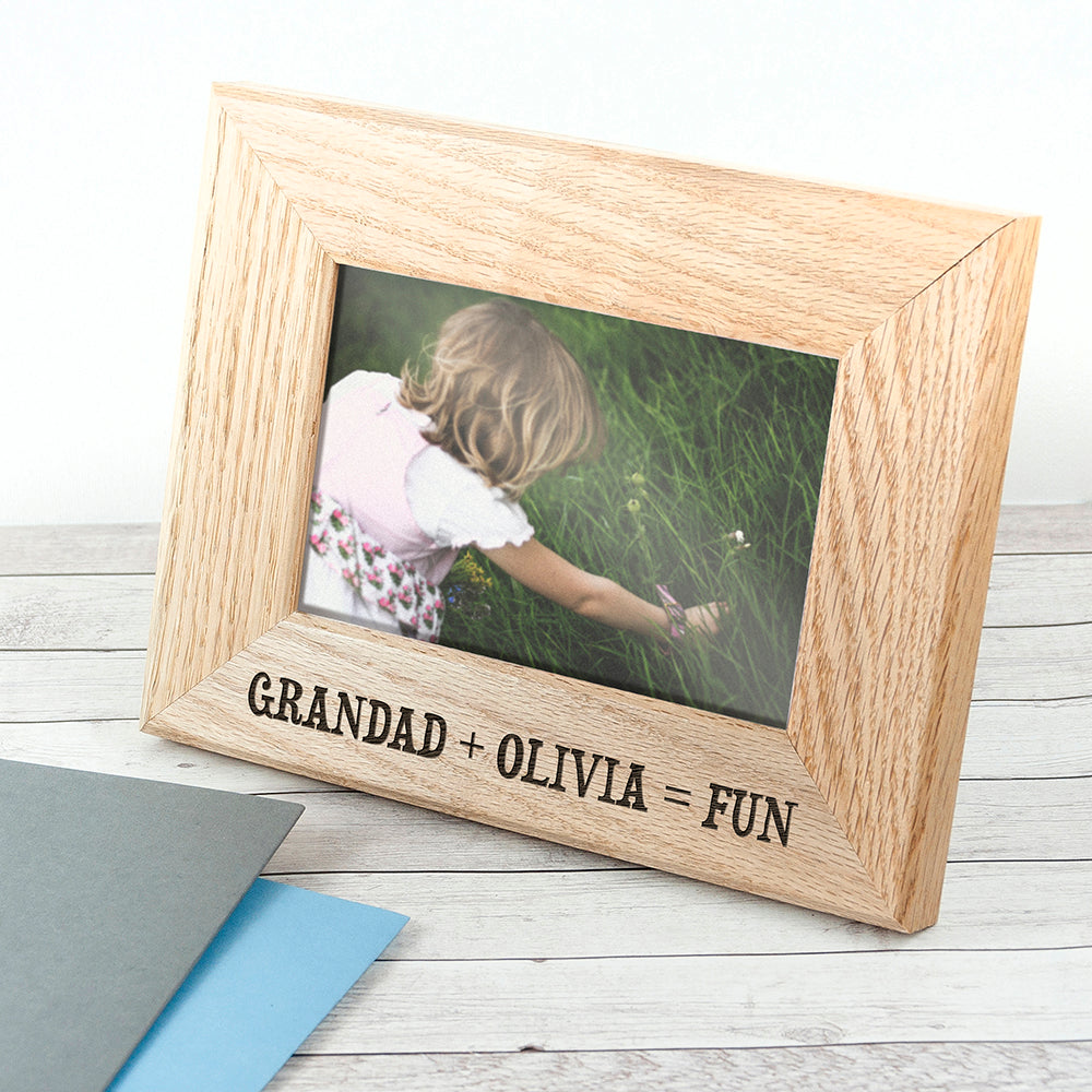Wordsworth Collection Fun with Grandad Engraved Photo Frame