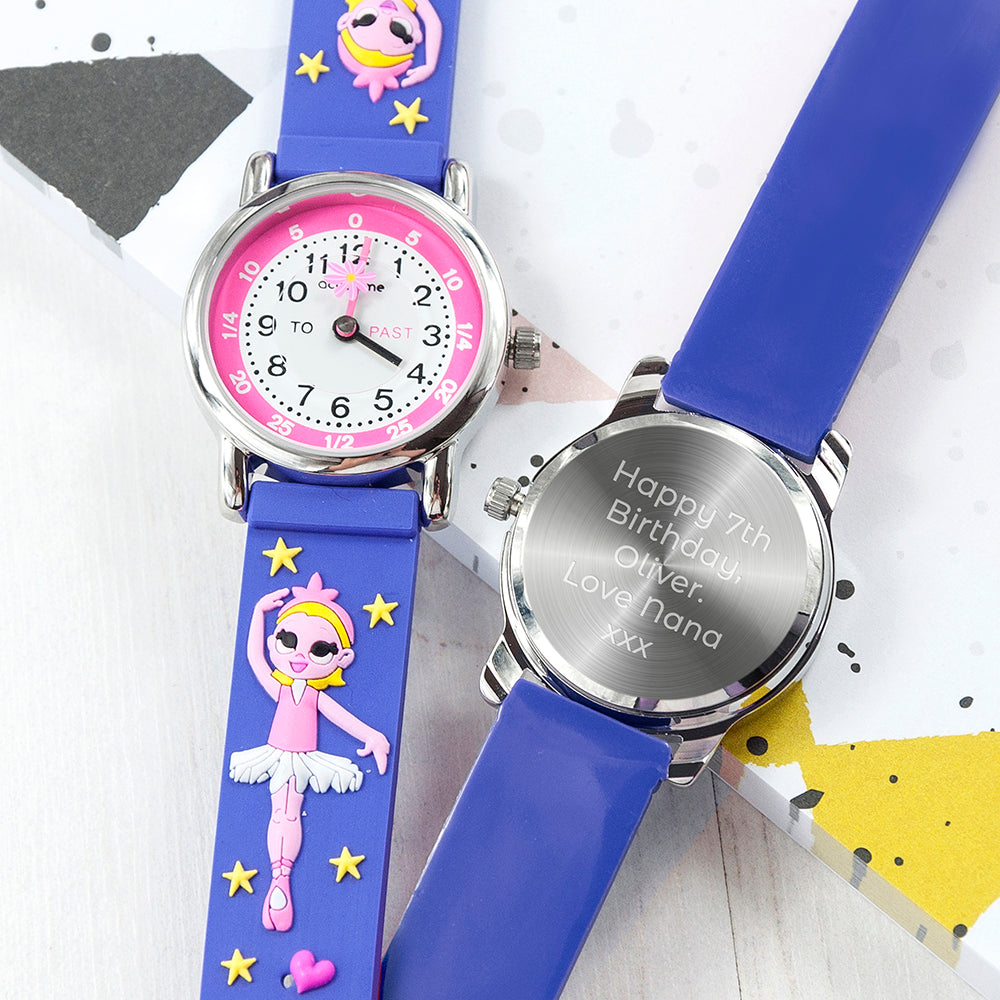 Kids Personalised Ballerina Watch - treat-republic