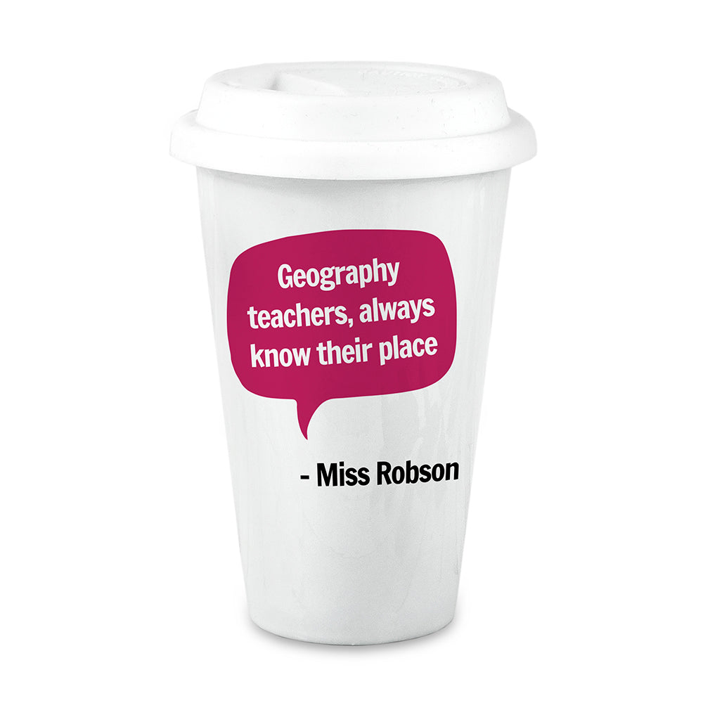 Personalised Teacher Says Travel Mug - treat-republic