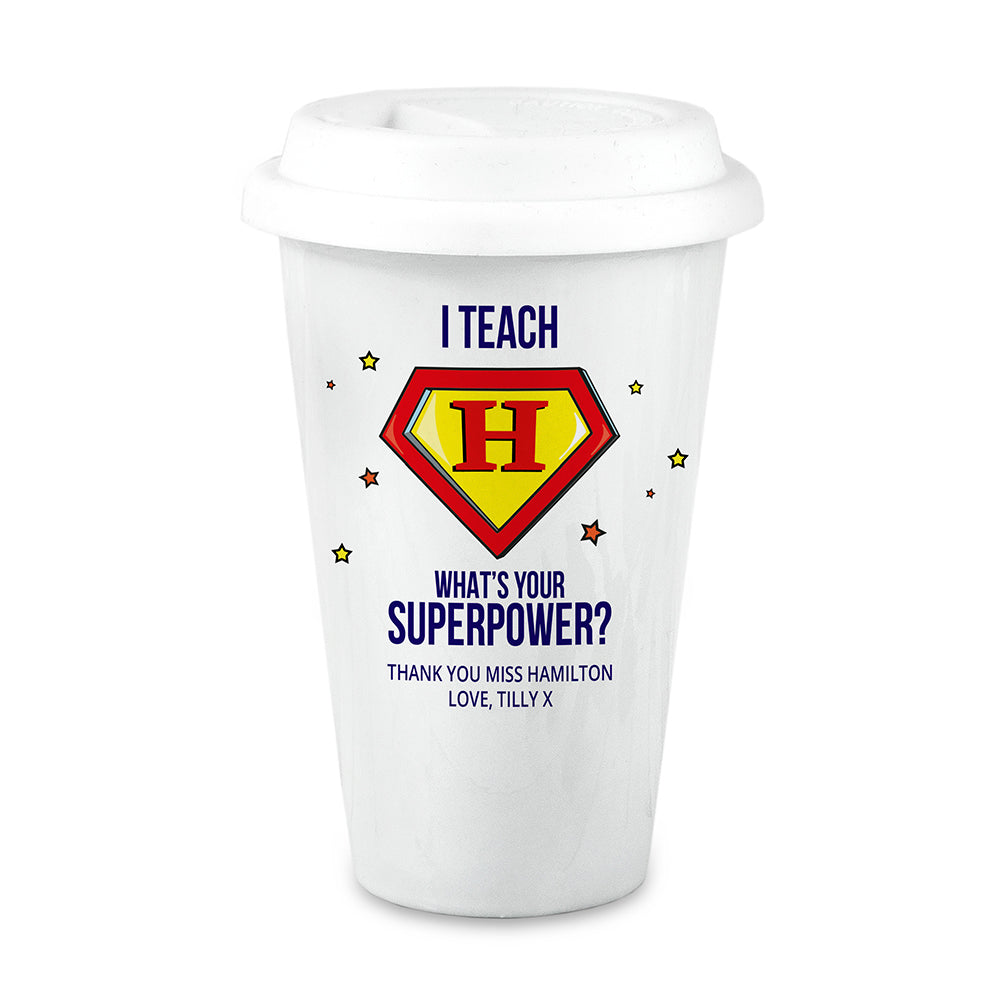 Personalised Super Teacher Travel Mug - treat-republic