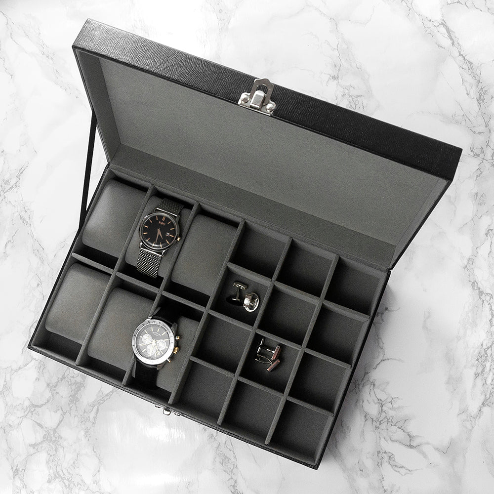 Personalised Watch & Cufflinks Box - treat-republic