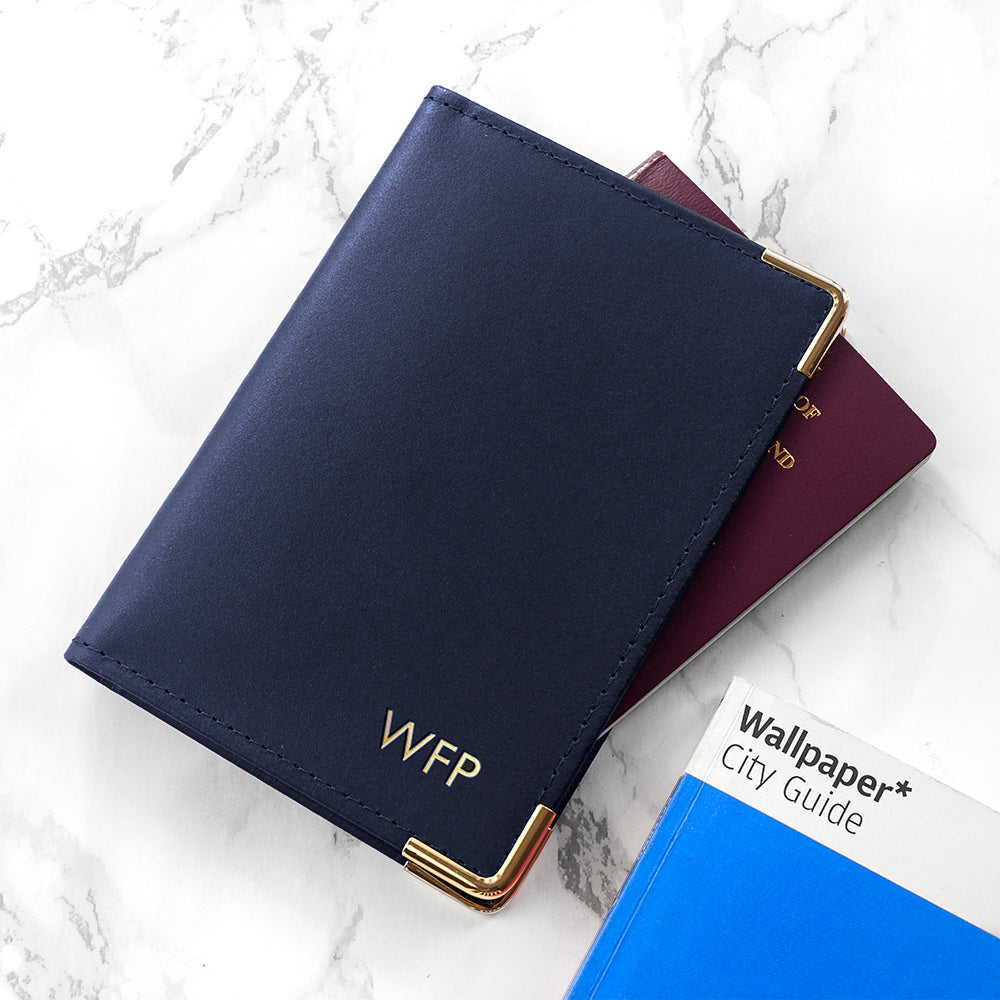 Personalised Luxury Leather Passport Cover