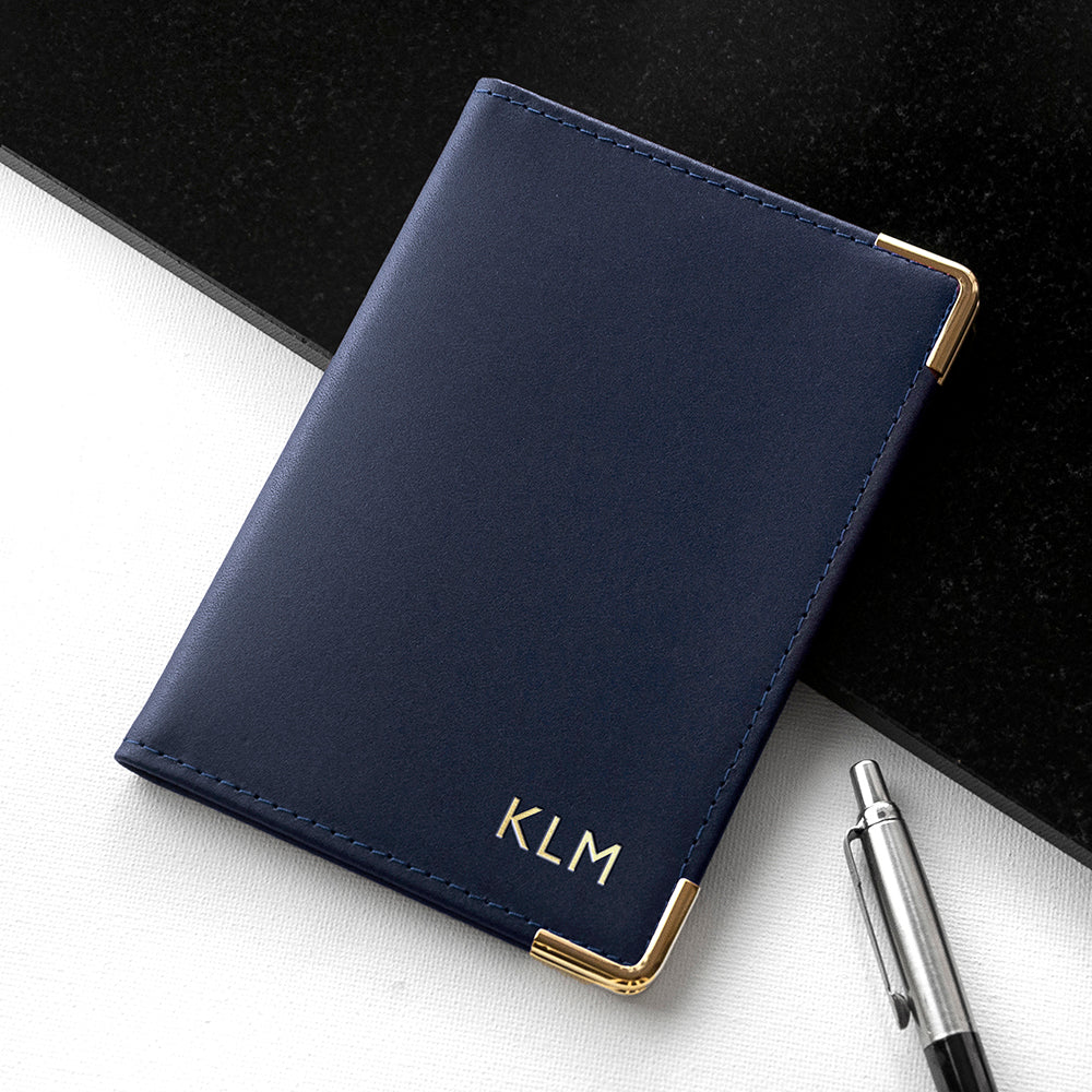 Personalised Luxury Leather Passport Cover - treat-republic