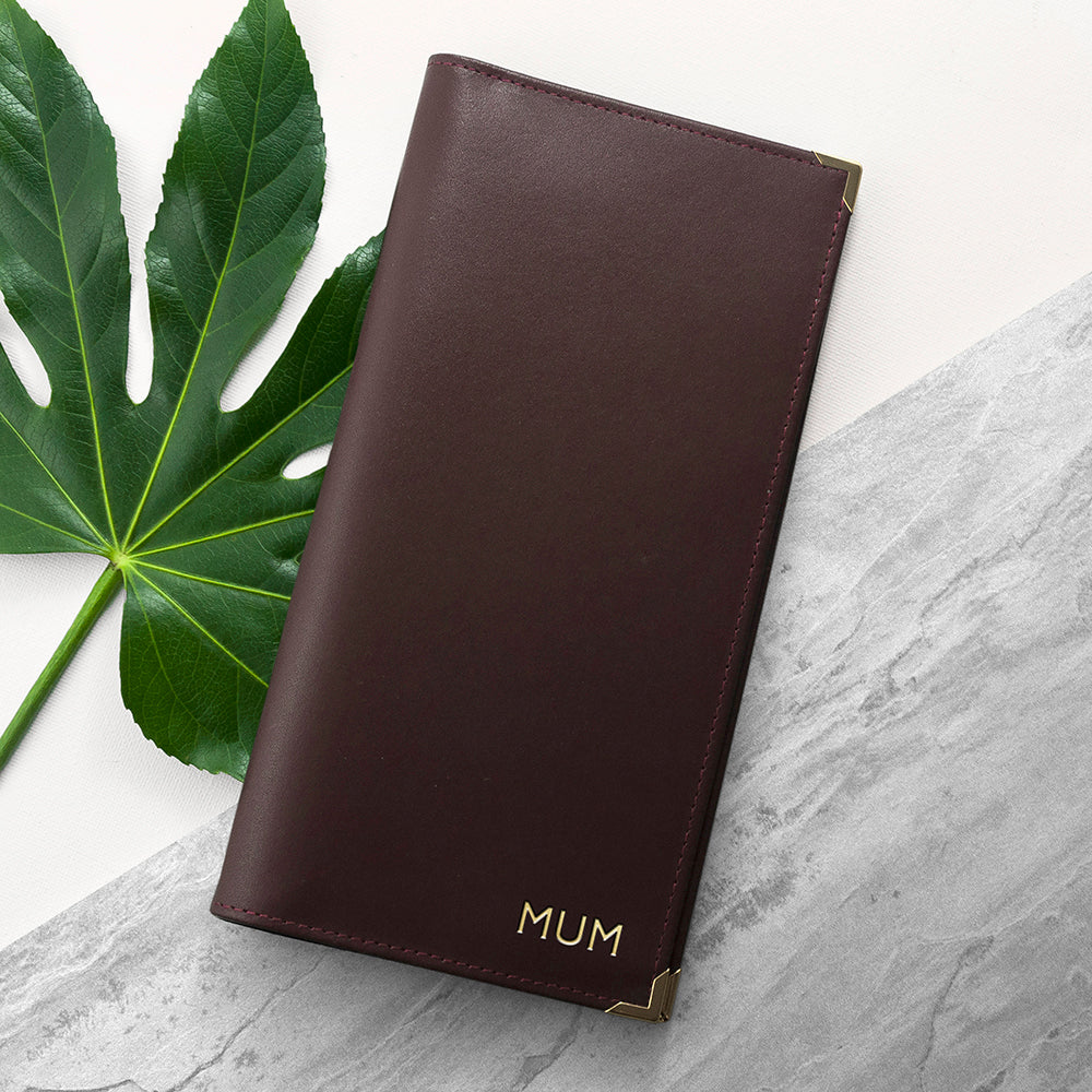 Personalised Luxury Leather Travel Wallet - treat-republic