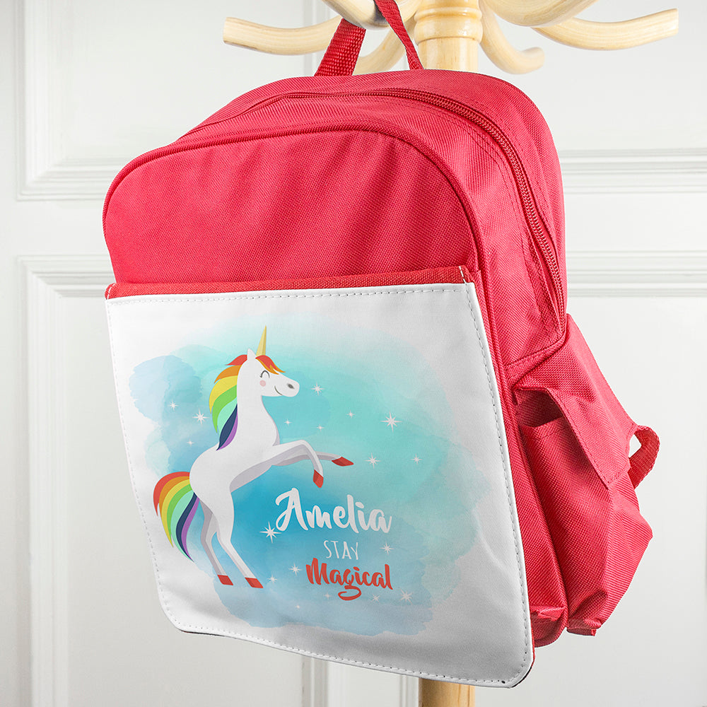 Personalised Rainbow Unicorn Backpack - treat-republic