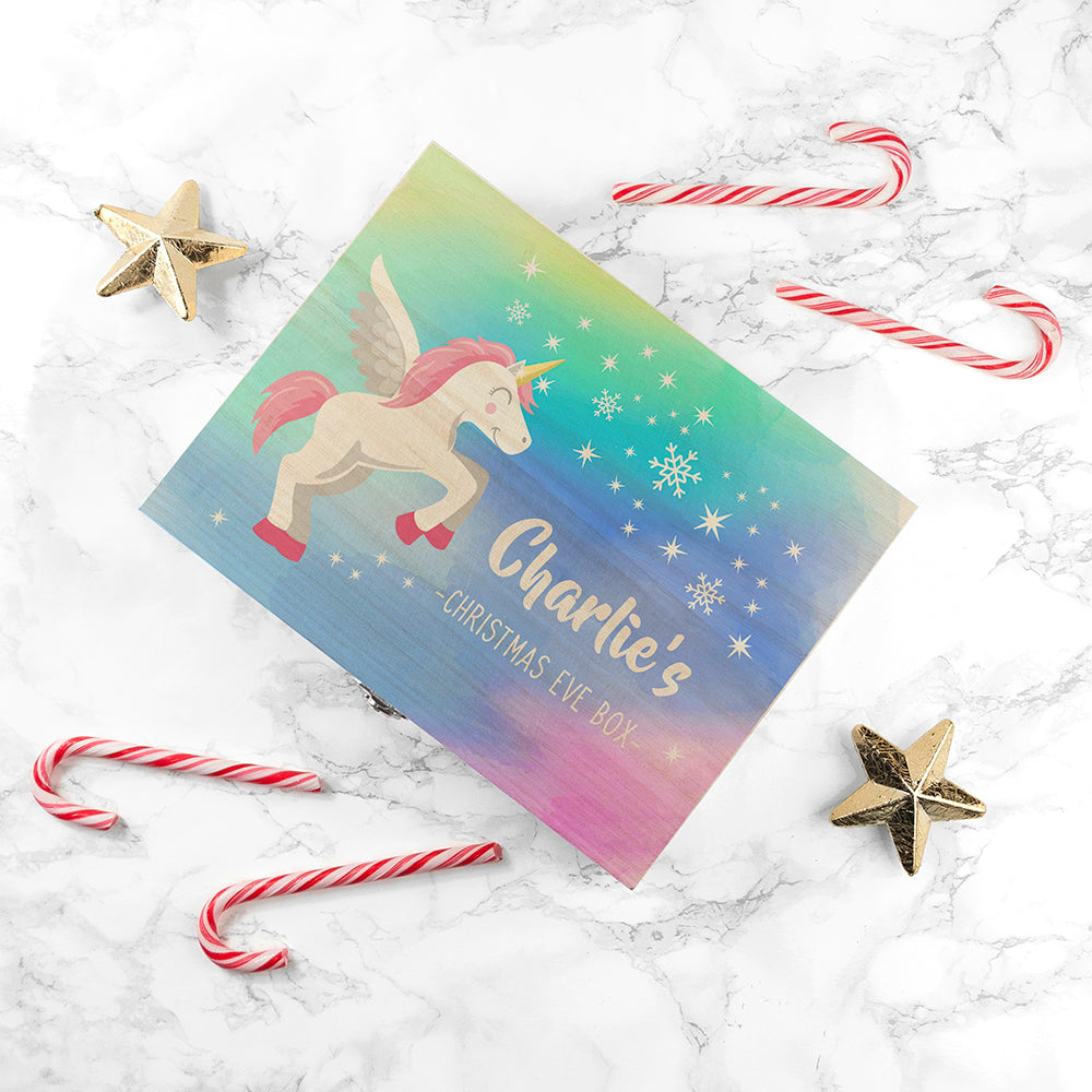 Personalised Colourful Baby Unicorn Christmas Eve Box - treat-republic