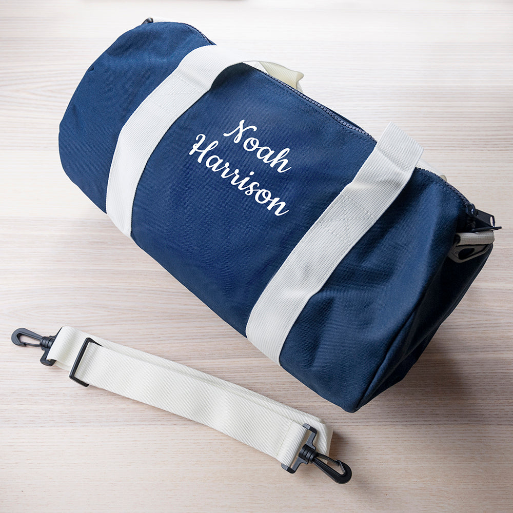Personalised Kids Navy Gym Kit Bag - treat-republic
