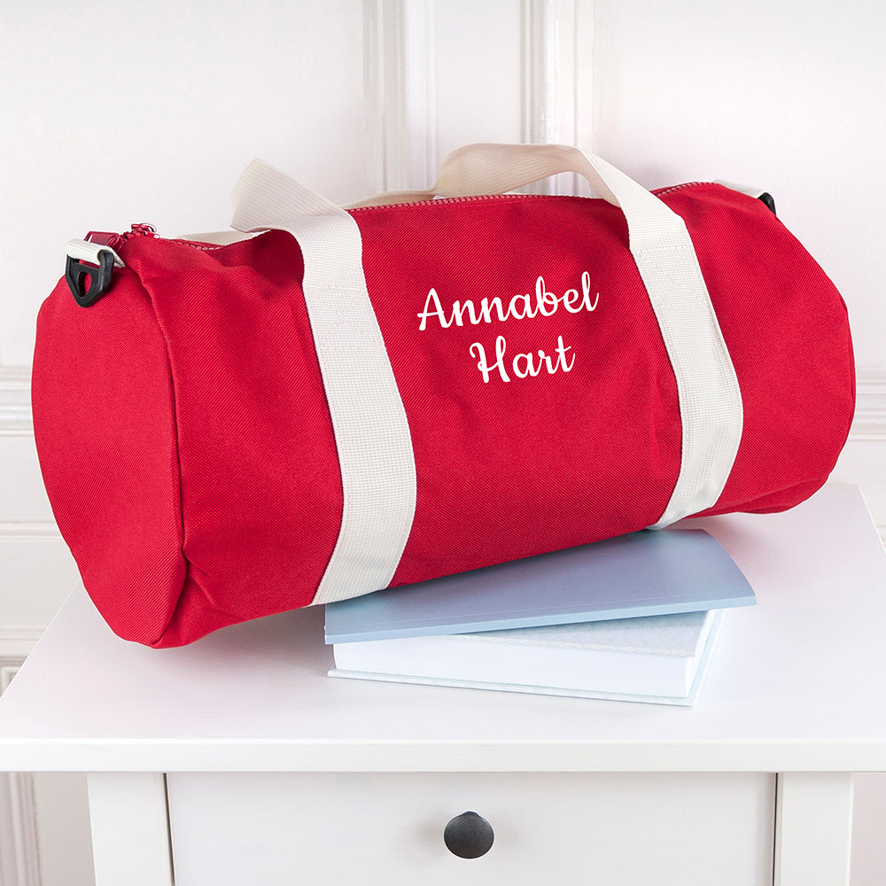 Personalised Kids Red Gym Kit Bag - treat-republic