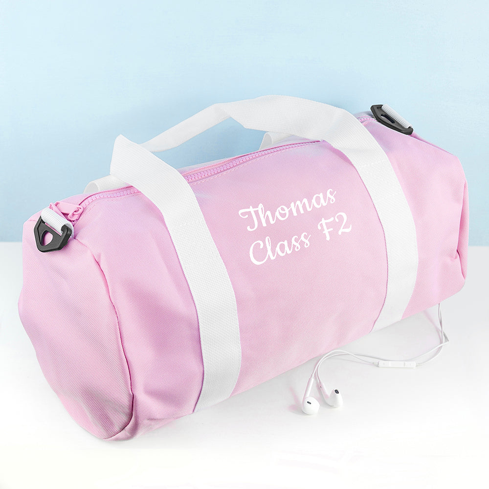 Personalised Kids Pink Gym Kit Bag - treat-republic