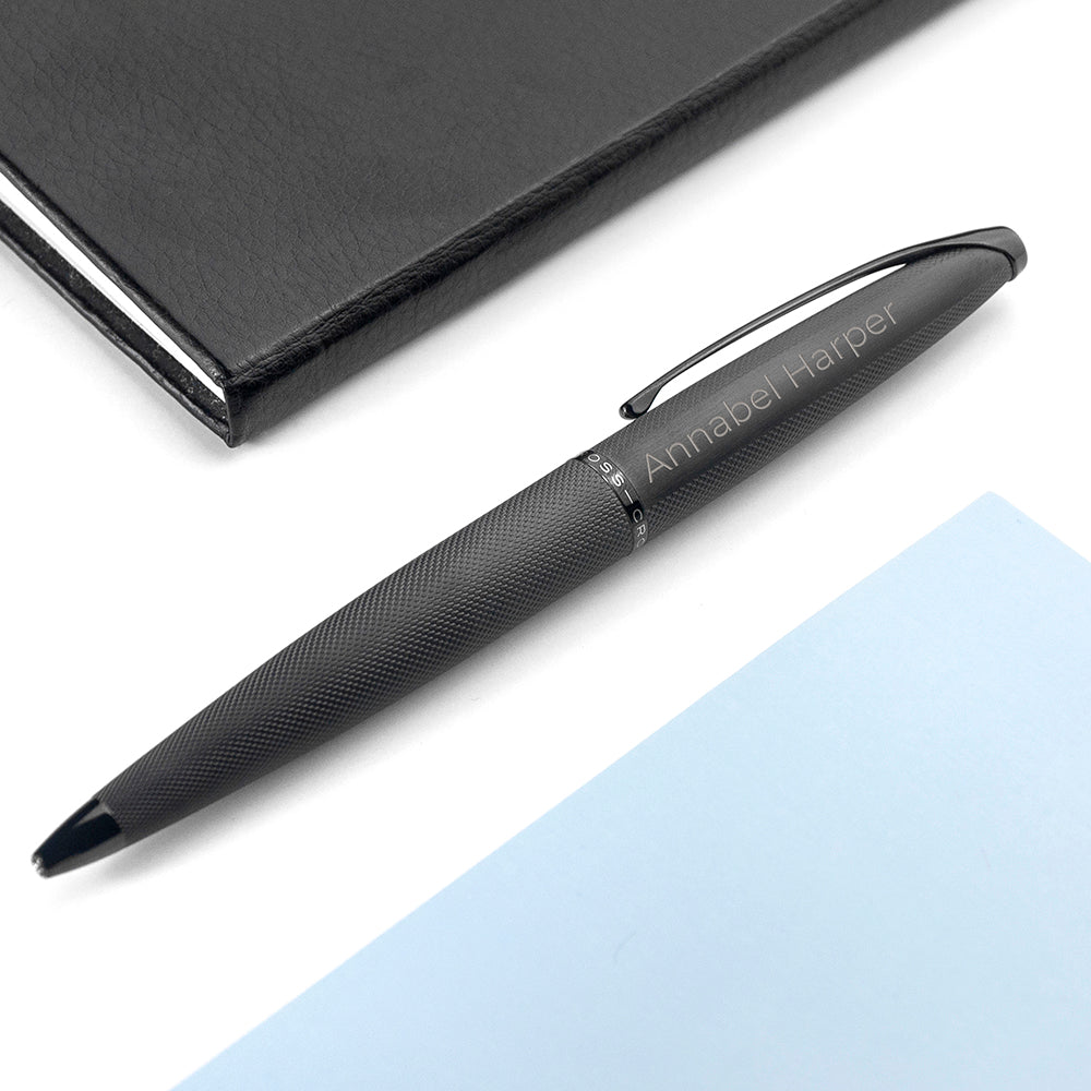 Personalised Cross ATX Pen in Black - treat-republic