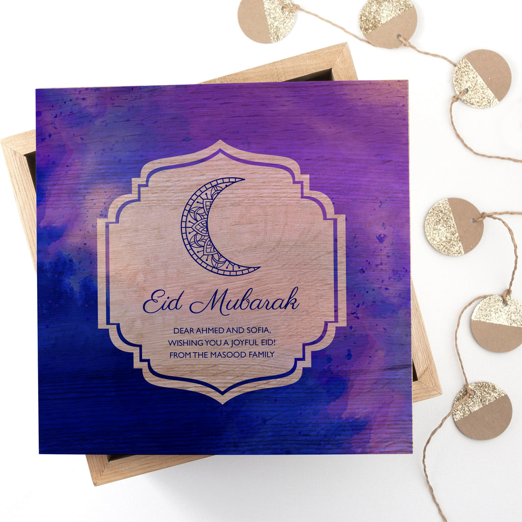 Personalised Eid Mubarak Keepsake Box - treat-republic