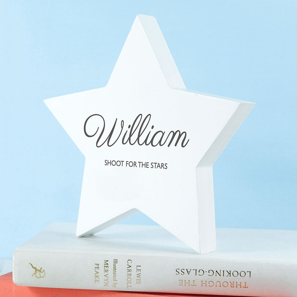 Personalised Shoot for the Stars Keepsake