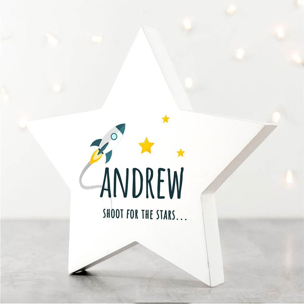 Personalised Rocket to the Stars Keepsake