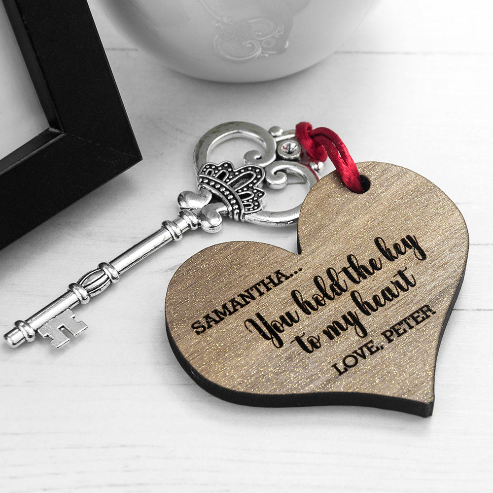 Personalised You Hold My Heart Keepsake