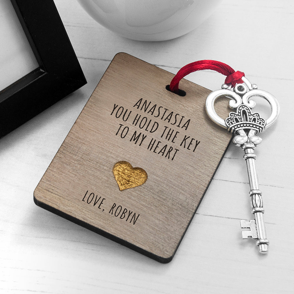 Personalised The Key My Heart Keepsake