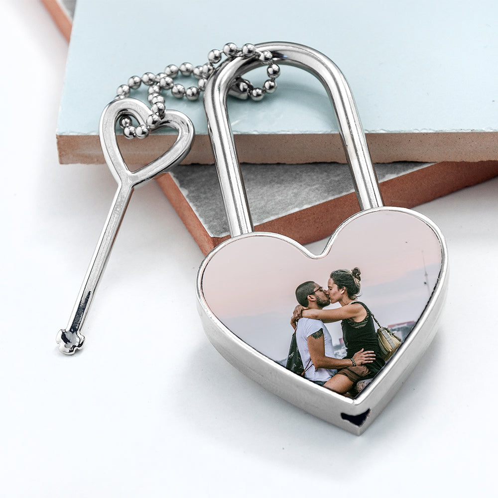 Personalised Favourite Memory Heart Padlock - treat-republic