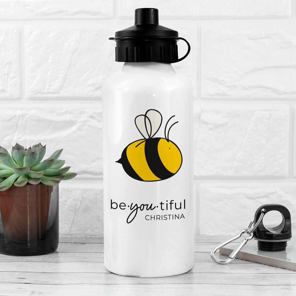 Bee You White Water Bottle - treat-republic