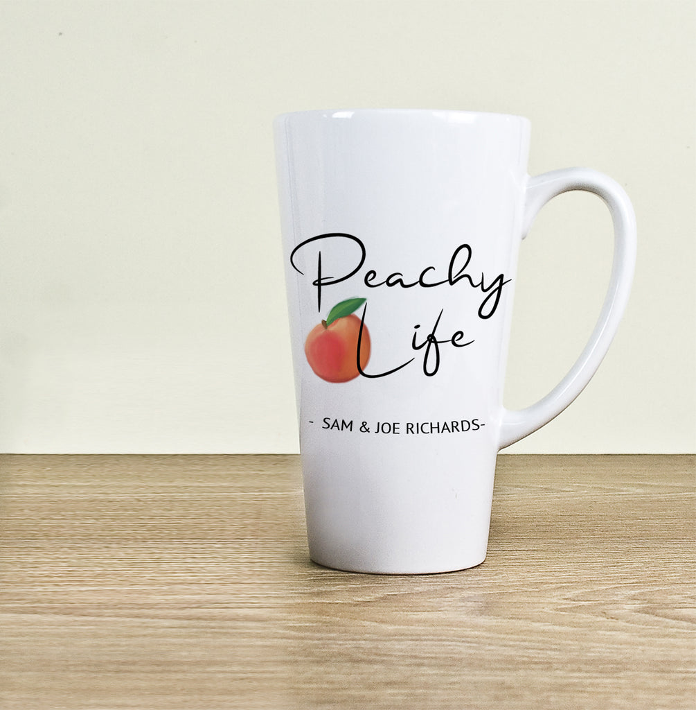 Peachy Life Latte Mug - treat-republic