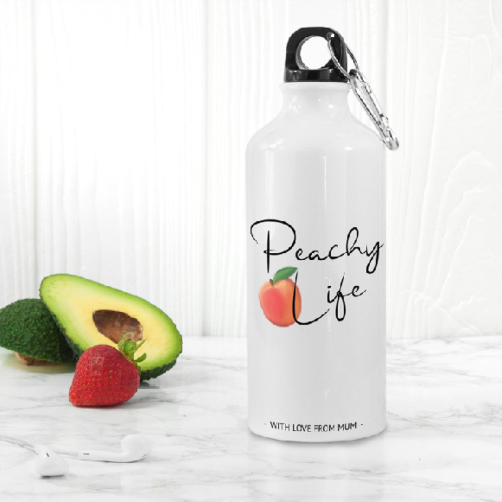 Peachy Life White Water Bottle - treat-republic