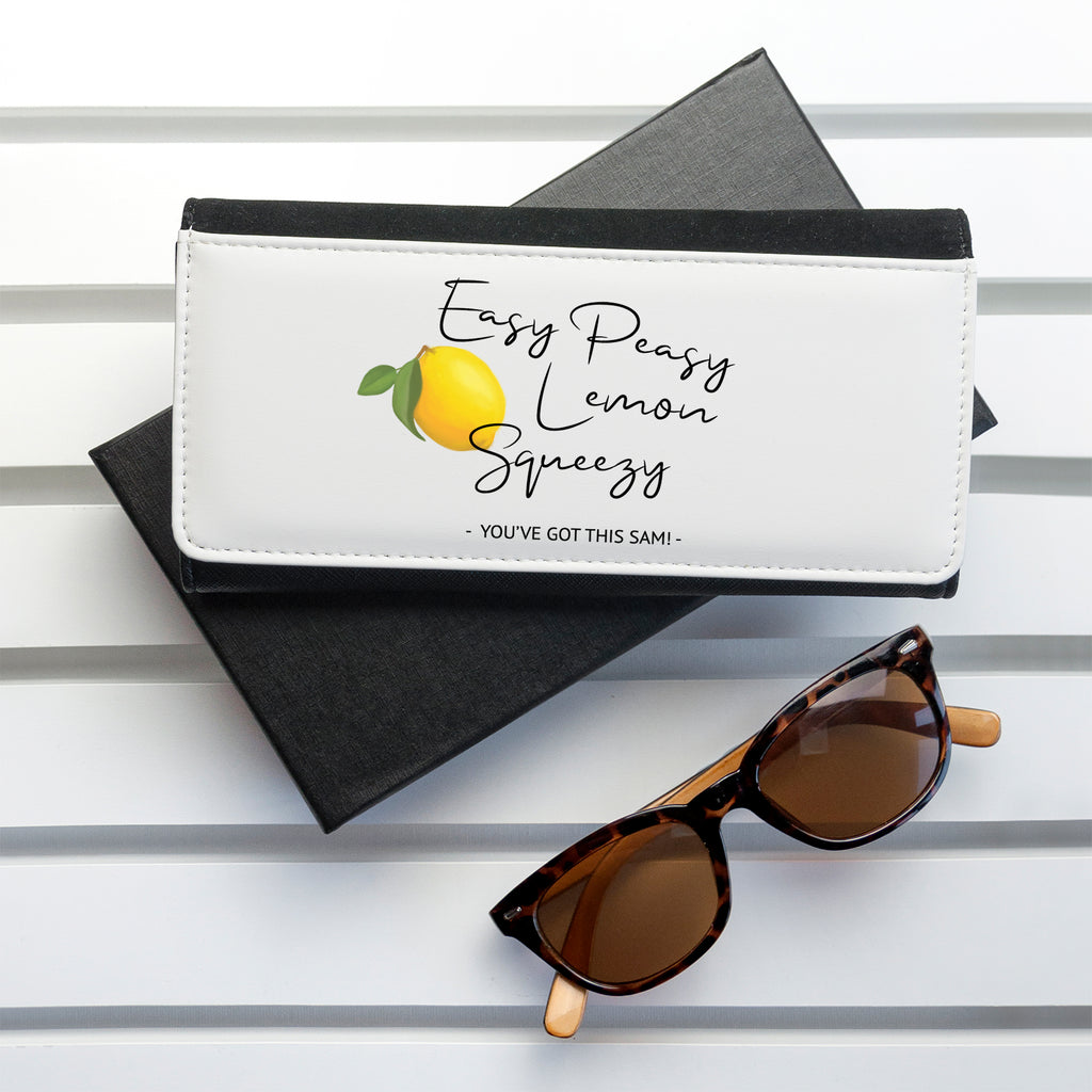 Easy Peasy Lemon Squeezy Black Wallet - treat-republic