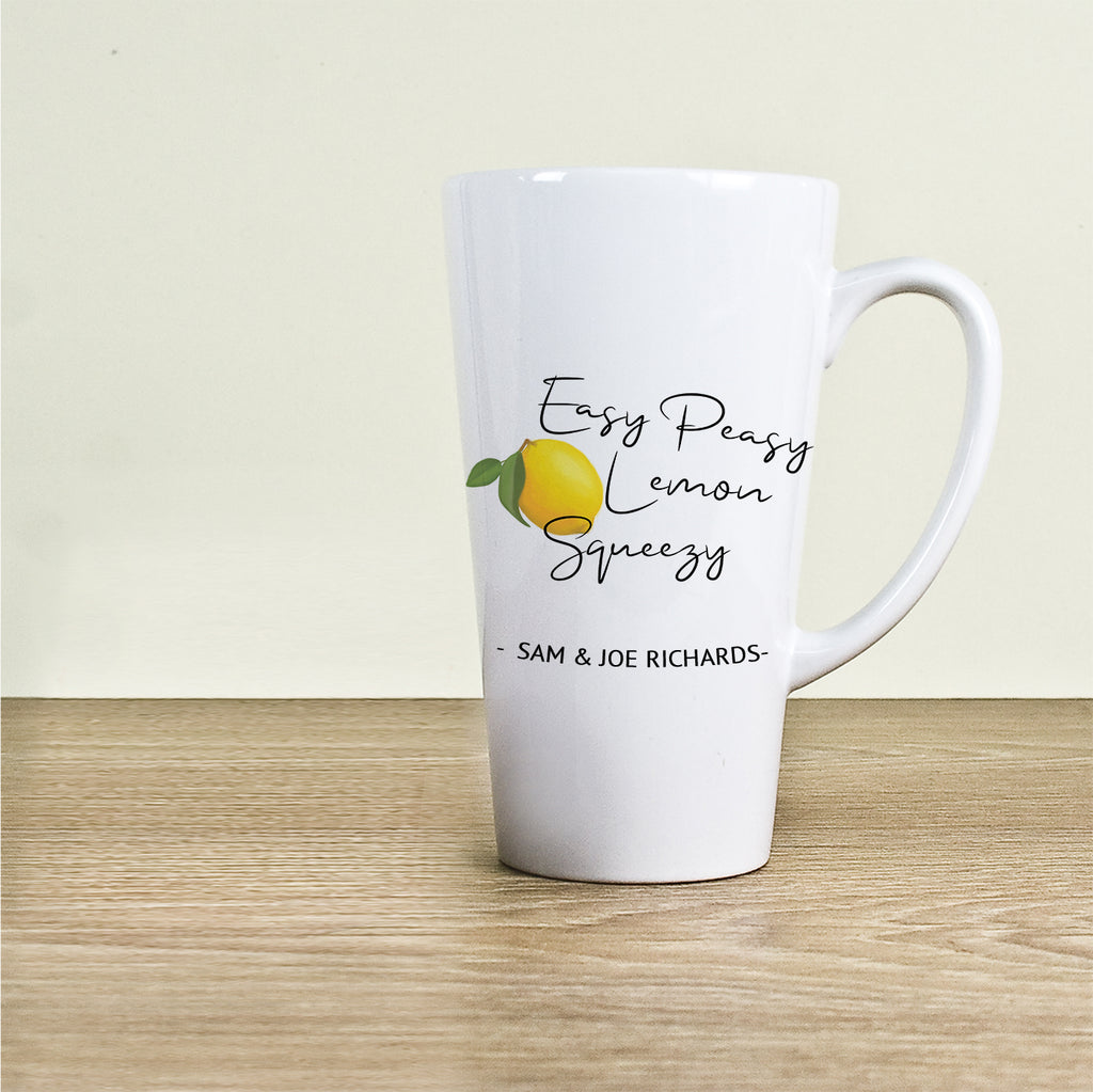 Easy Peasy Lemon Squeezy Latte Mug - treat-republic