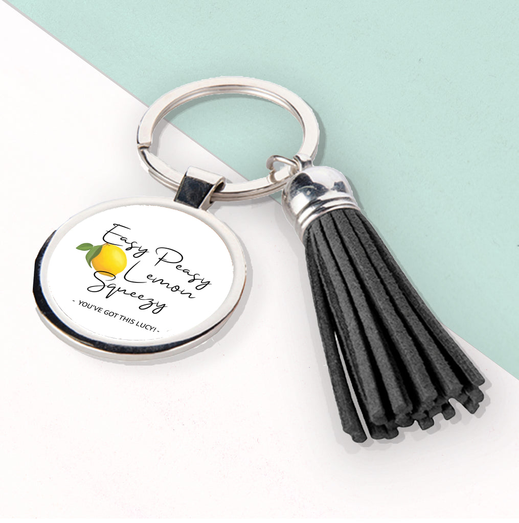 Easy Peasy Lemon Squeezy Tassle Keyring - treat-republic