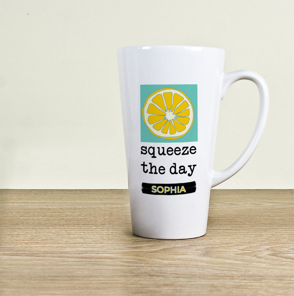 Squeeze The Day Latte Mug - treat-republic