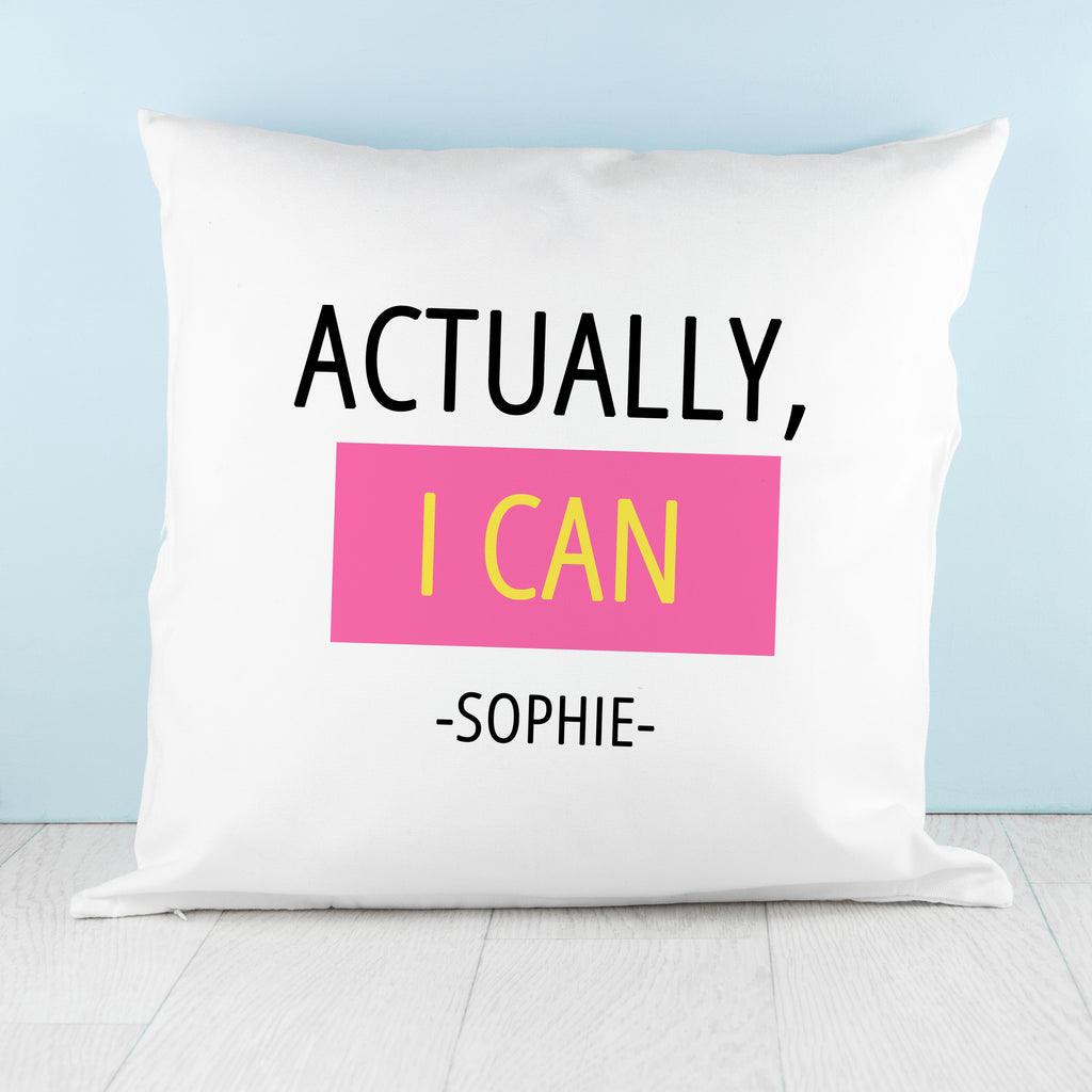 Actually I Can Cushion Cover - treat-republic