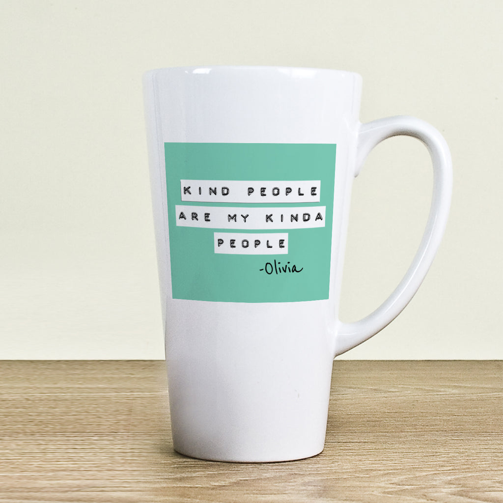 Kind People (Green) Latte Mug - treat-republic
