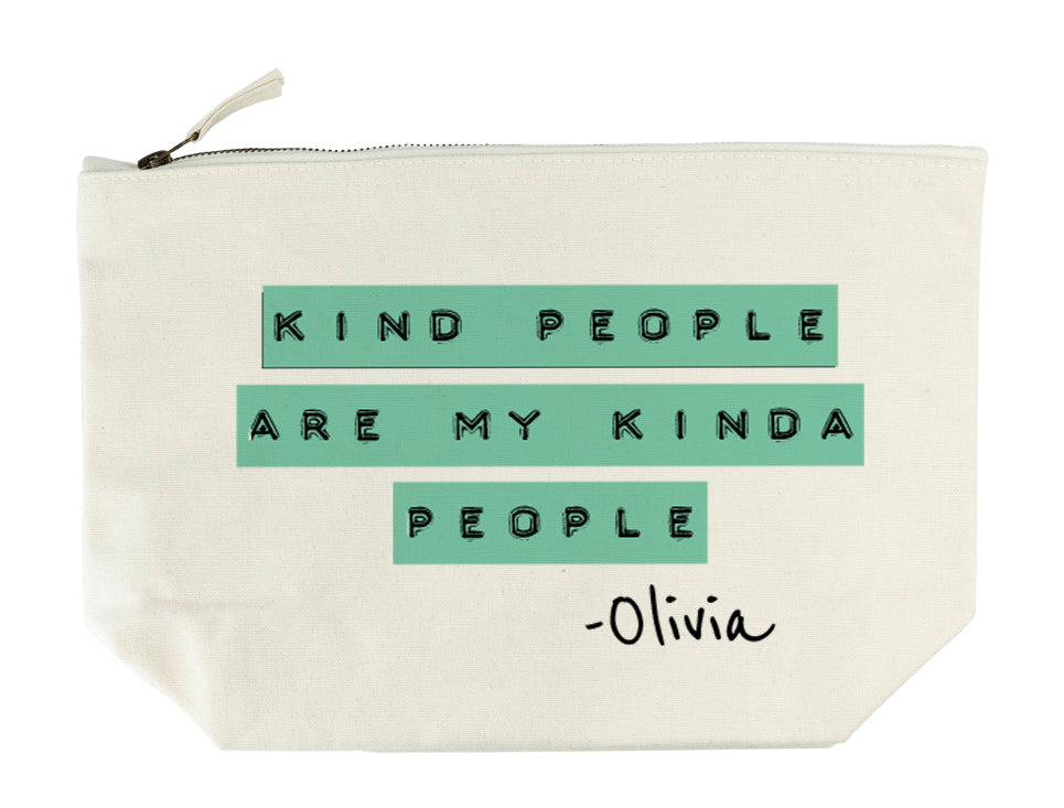 Kind People (Green) Wash Bag - treat-republic