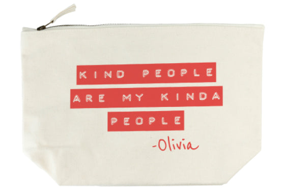 Kind People (Red) Wash Bag - treat-republic