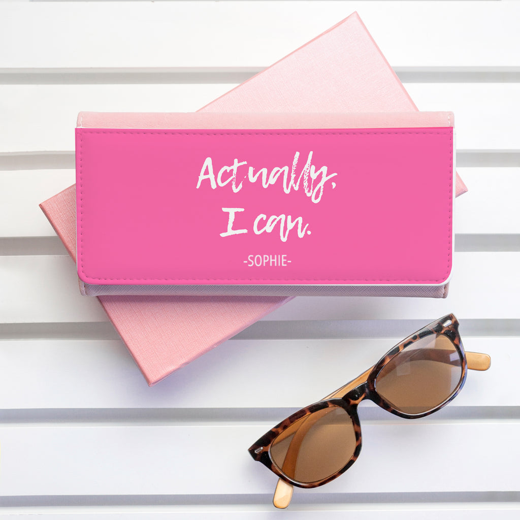 Actually I Can Handwritten Pink Wallet - treat-republic