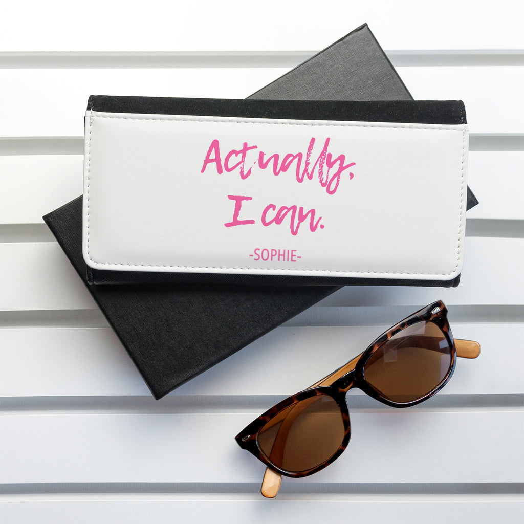 Actually I Can Handwritten Black Wallet - treat-republic
