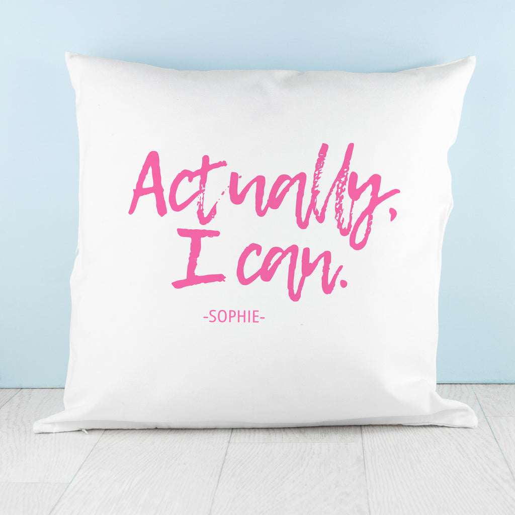 Actually I Can Handwritten Cushion Cover - treat-republic