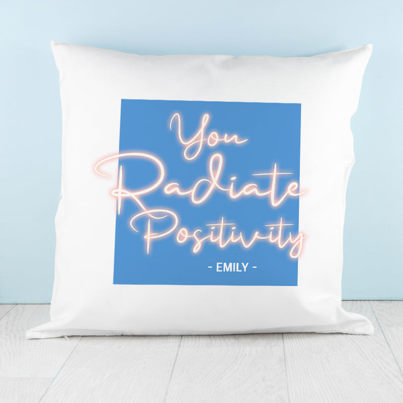 Radiate Positivity Cushion Cover - treat-republic