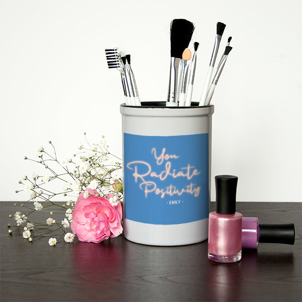 Radiate Positivity Make Up Brush Holder - treat-republic