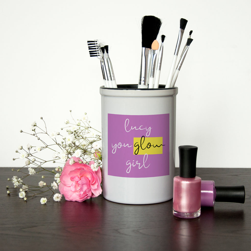 You Glow Girl Make Up Brush Holder - treat-republic