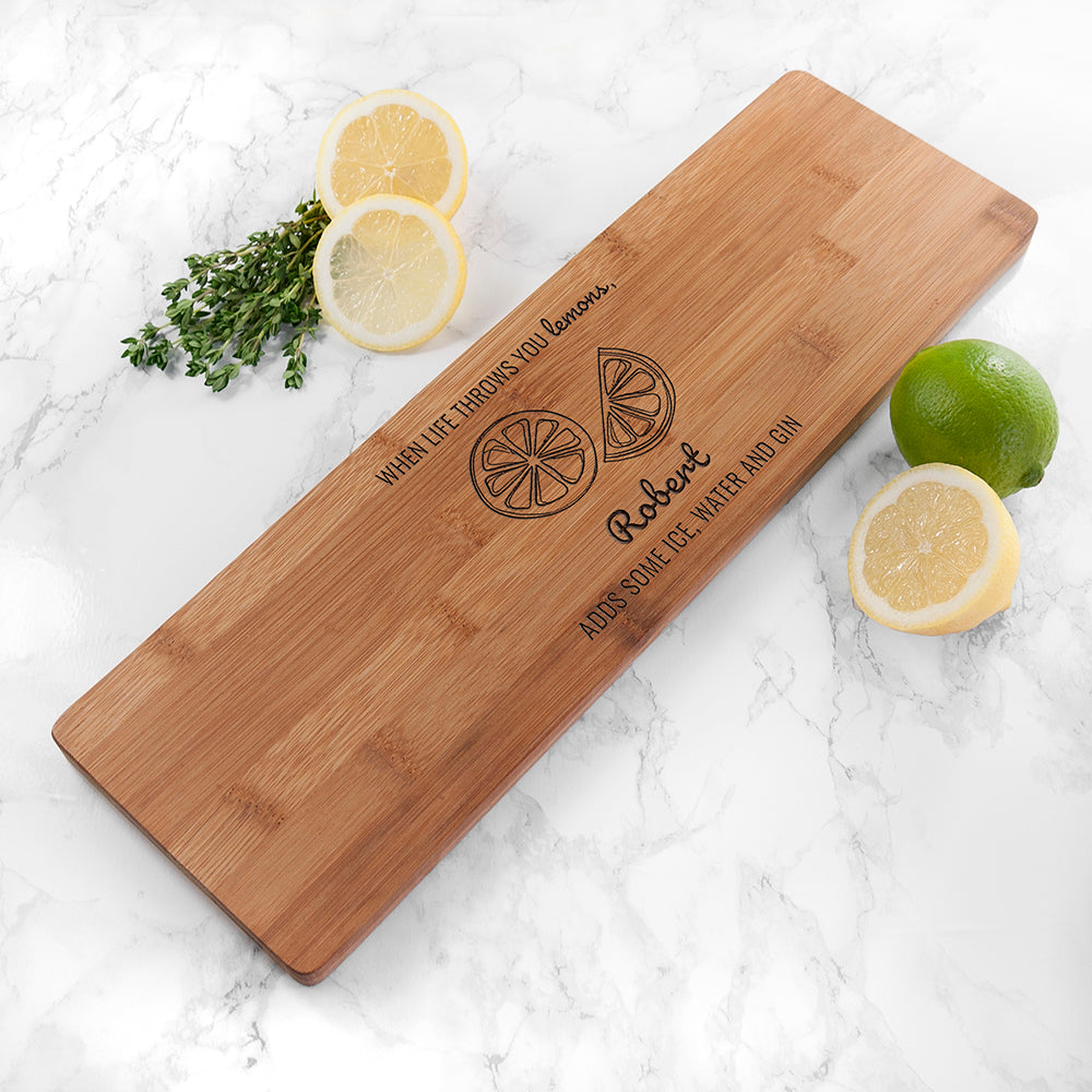 Personalised Life Gives You Lemons Board - treat-republic