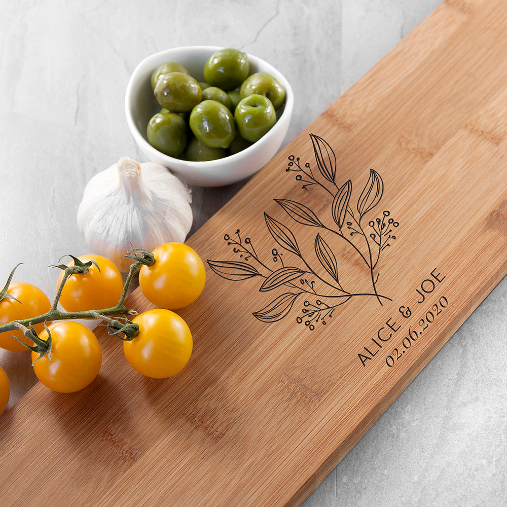Personalised Happy Couple Serving Board - treat-republic