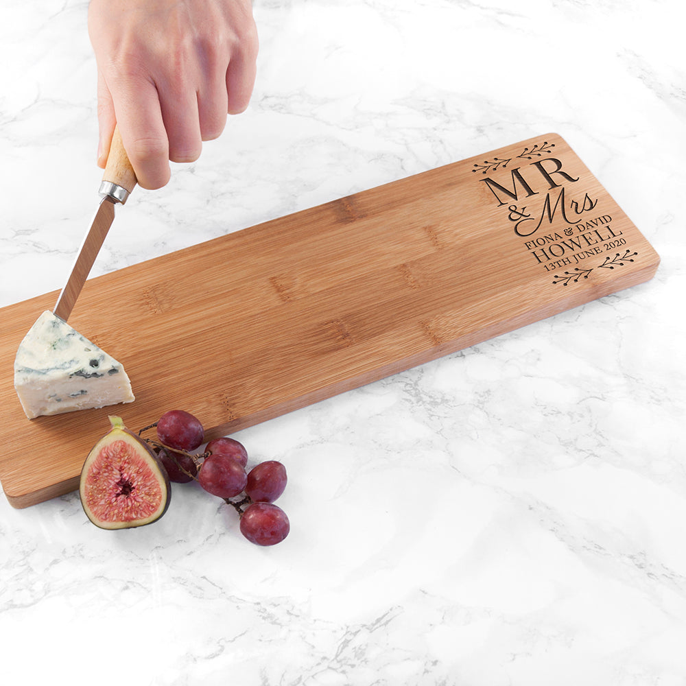 Personalised Mr and Mrs Serving Board - treat-republic