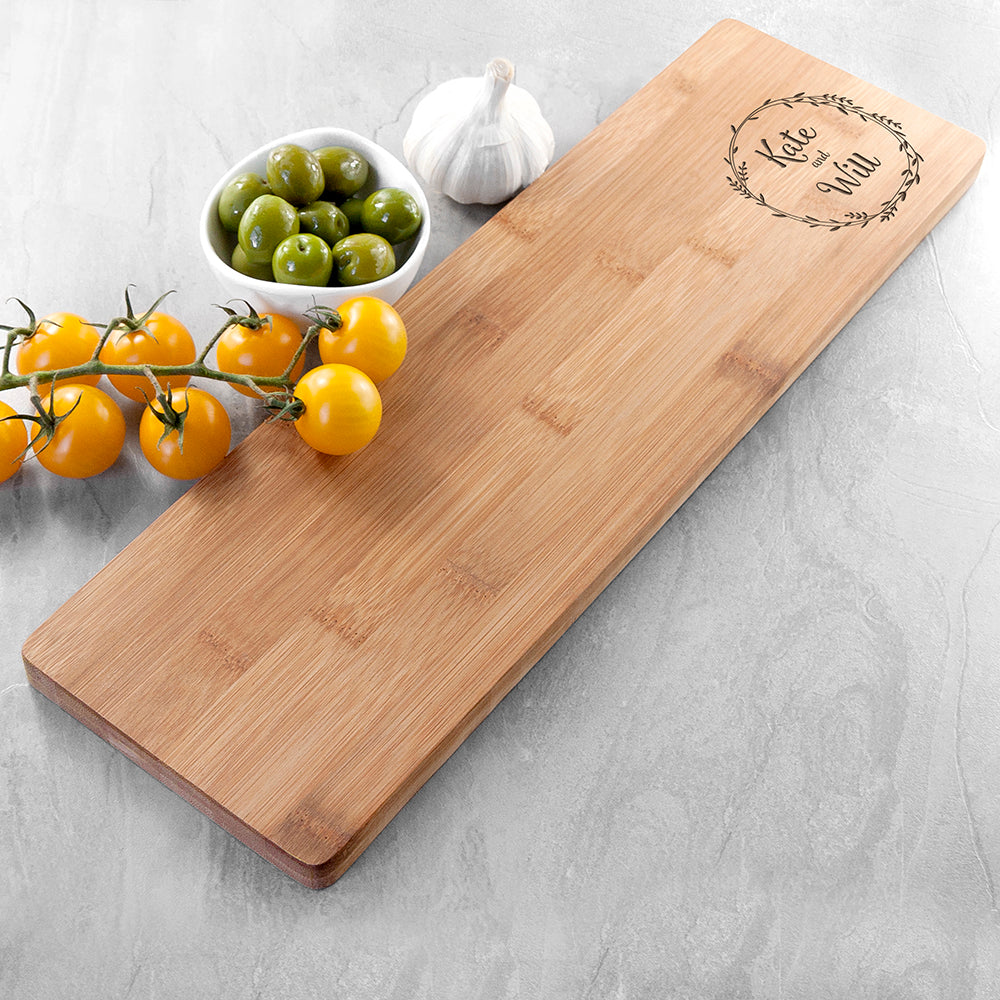 Personalised Couple's Wreath Serving Board - treat-republic