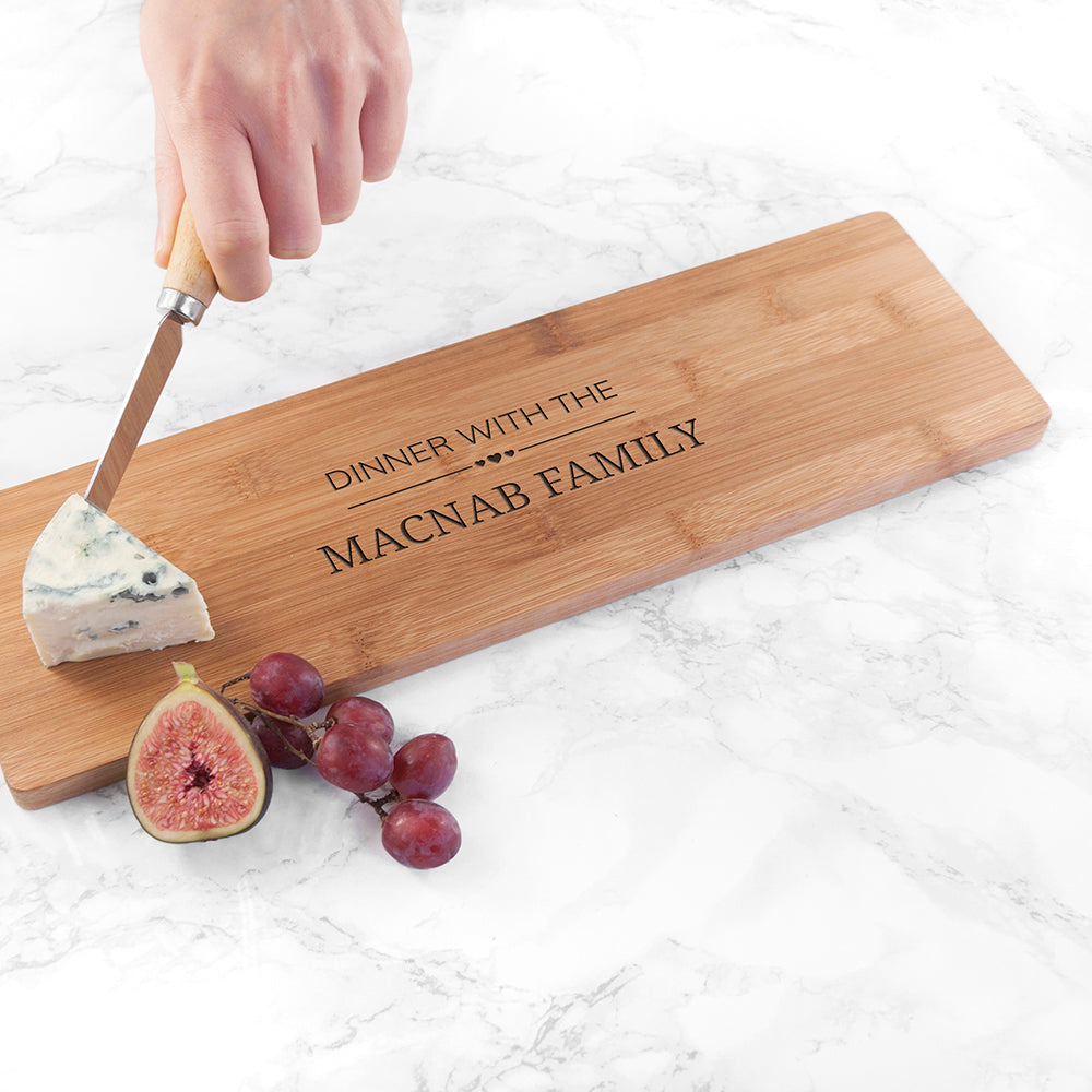 Personalised Family Dinner Serving Board - treat-republic