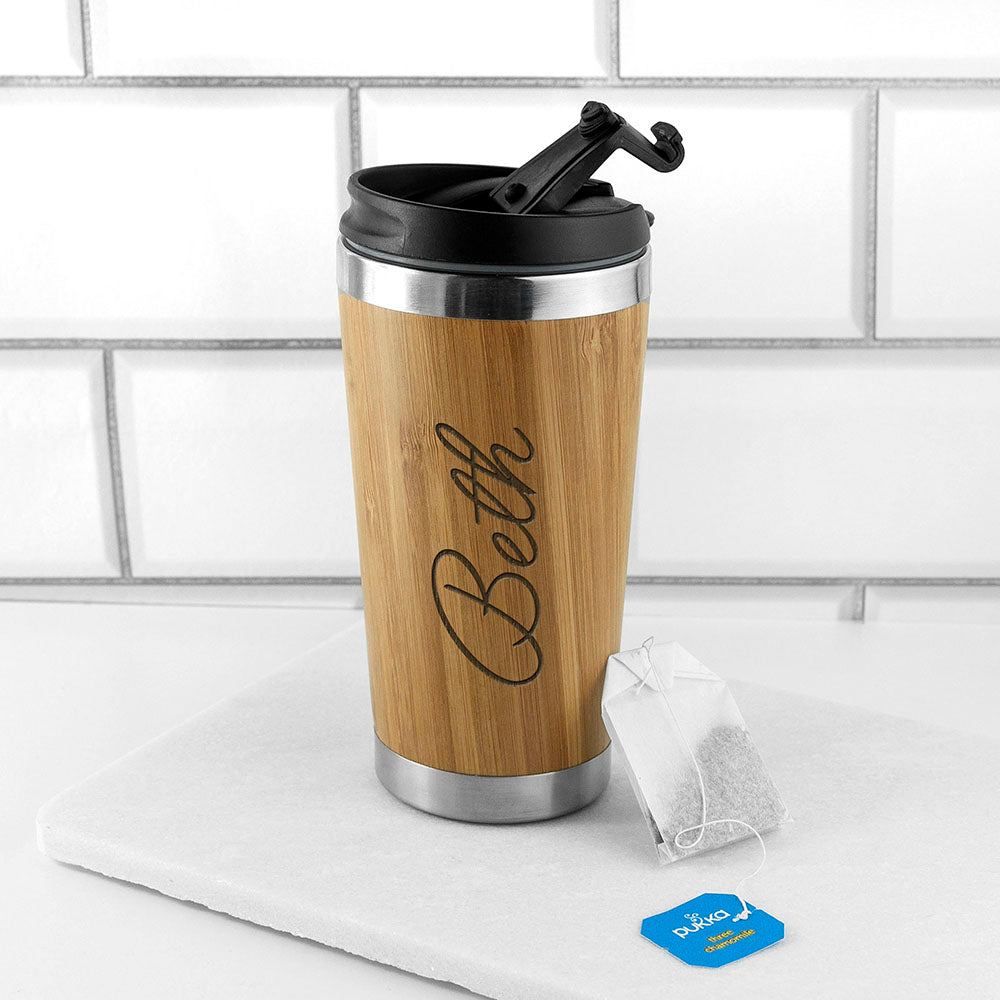 Personalised Bamboo Travel Mug